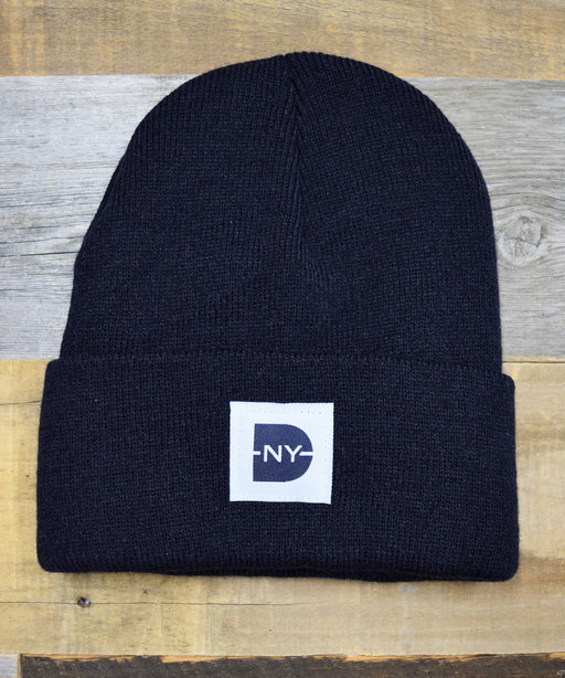 Dave's New York Iconic Logo Beanie in Navy