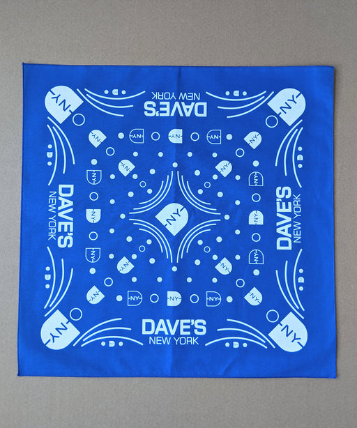 Dave's New York DNY Logo Bandana - Royal Blue