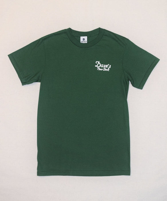 Dave's New York Vintage Logo Short Sleeve T-shirt - Hunter Green