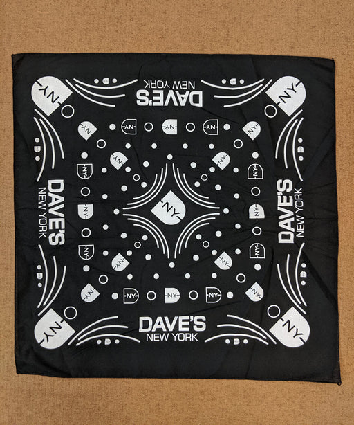 DNY Logo Bandana in Black at Dave's New York