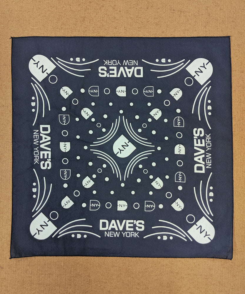 DNY Logo Bandana in Navy at Dave's New York