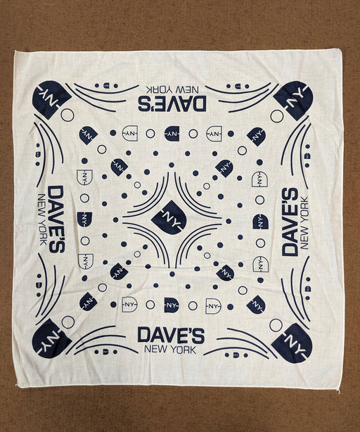 DNY Logo Bandana in White at Dave's New York