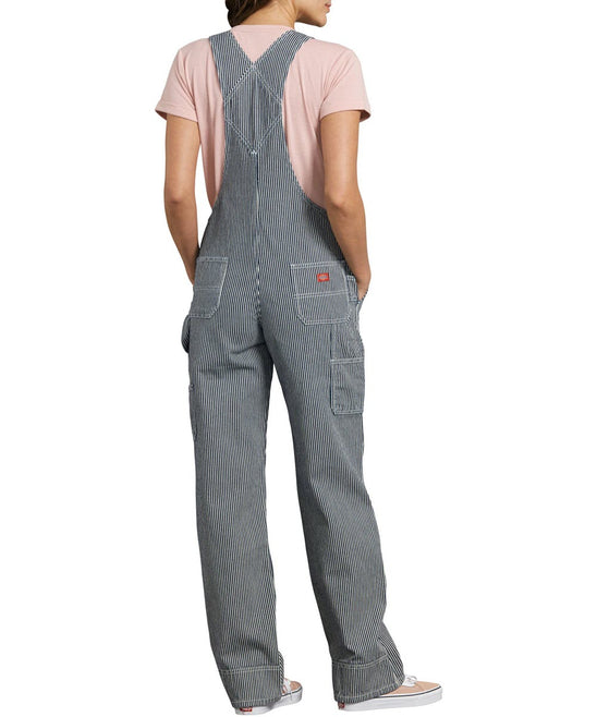 Dickies Women's Relaxed Fit Bib Overalls - Hickory Stripe
