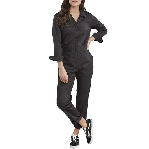 Dickies Women's Long Sleeve Cotton Coveralls in Black at Dave's New York
