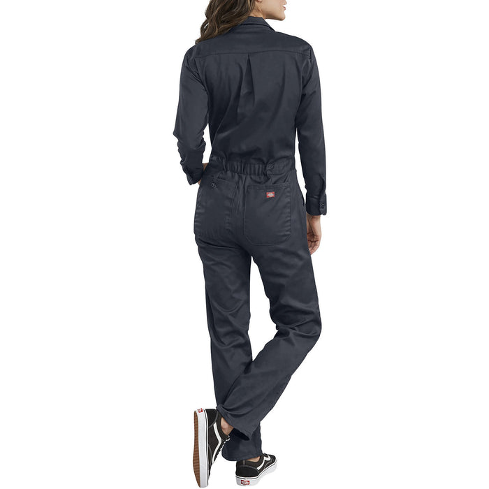 Dickies Women's Long Sleeve Cotton Coveralls in Dark Navy at Dave's New York