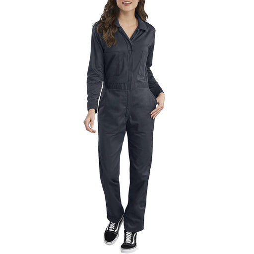 Dickies Women's Long Sleeve Cotton Coveralls - Dark Navy
