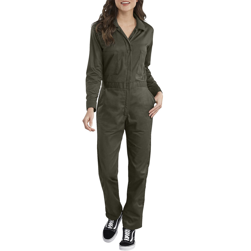 Dickies Women's Long Sleeve Cotton Coveralls - Moss