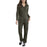 Dickies Women's Long Sleeve Cotton Coveralls in Moss at Dave's New York