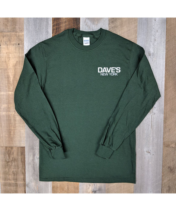 e6a4486052ee Dave's New York Work Logo Long Sleeve T-Shirt - Forest Green — Dave's New  York