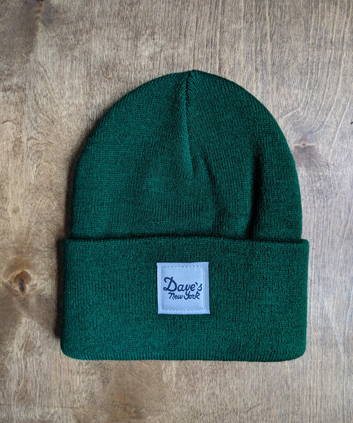 Dave's New York Vintage Logo Beanie - Forest Green