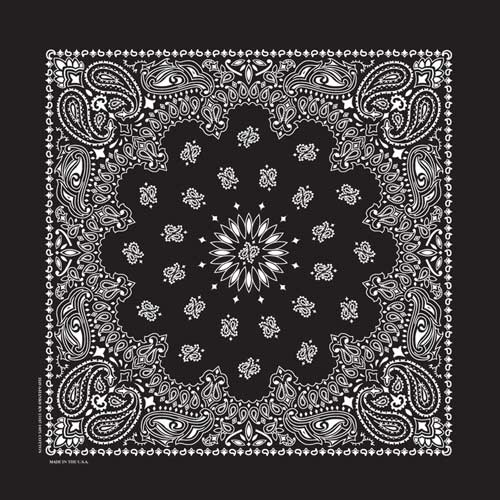 Hav-A-Hank USA Made Paisley Print Bandana - Black