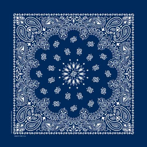 Hav-A-Hank USA Made Paisley Print Bandana - Navy