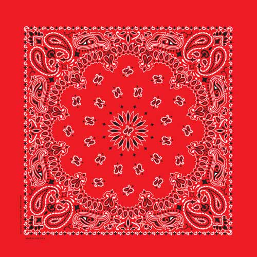 Hav-A-Hank USA Made Paisley Print Bandana - Red