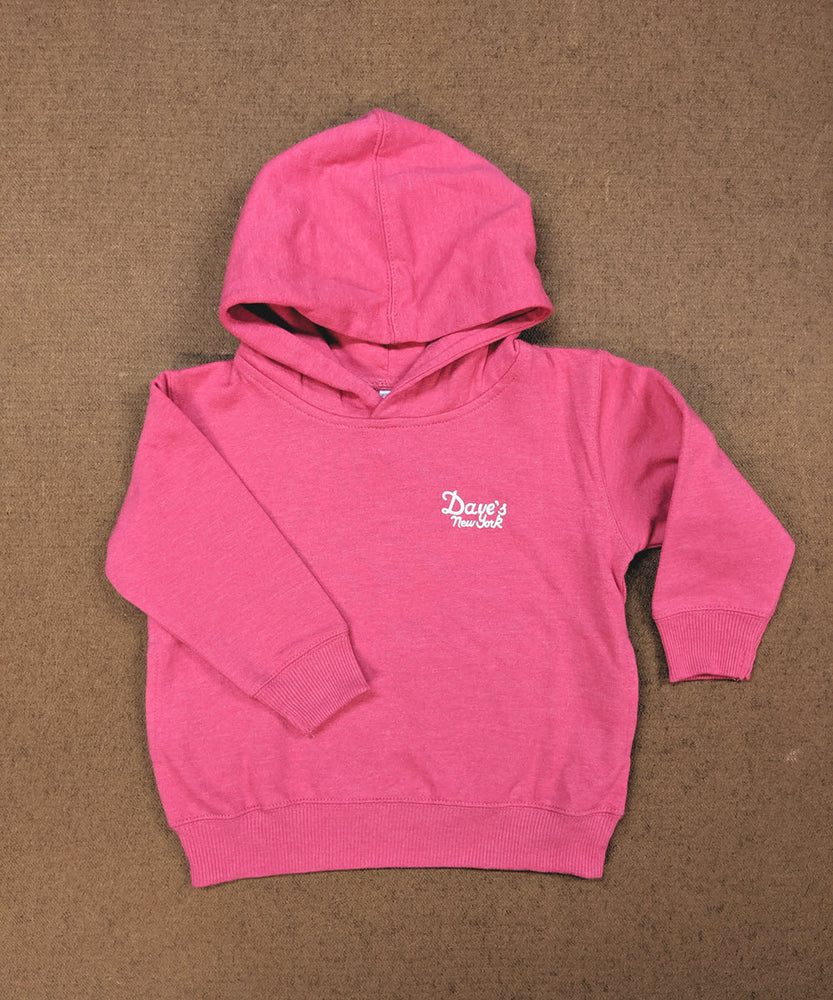 Dave's New York Kids Logo Hoodie - Hot Pink Heather