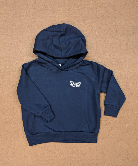 Dave's New York Kids Logo Hoodie in Navy