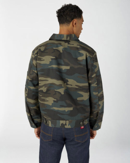 Dickies Men's Insulated Eisenhower Jacket in Hunter Green Camo at Dave's New York