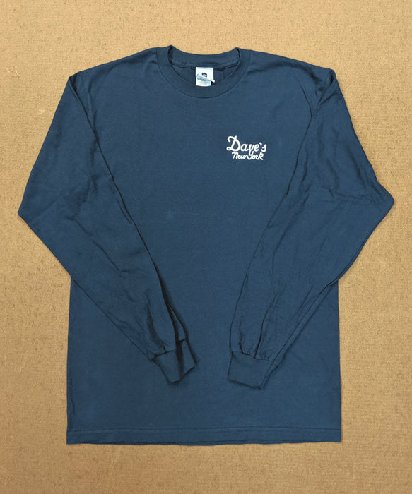 Dave's New York Vintage Logo Long Sleeve T-shirt - Navy