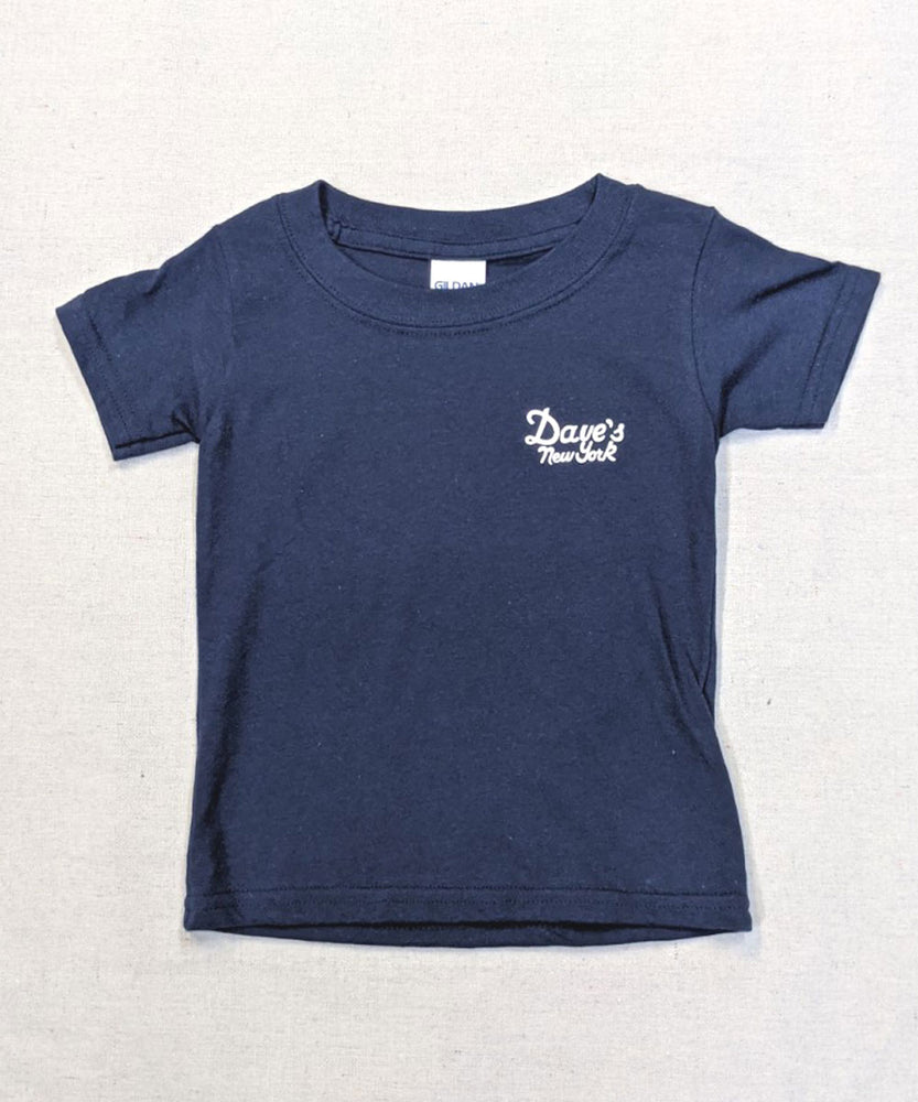 Dave's New York Vintage Logo Kids Tee - Navy