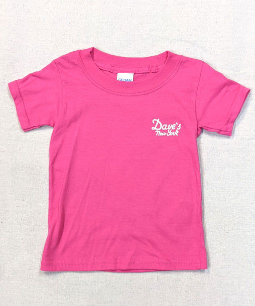 Dave's New York Vintage Logo Kids Tee - Hot Pink