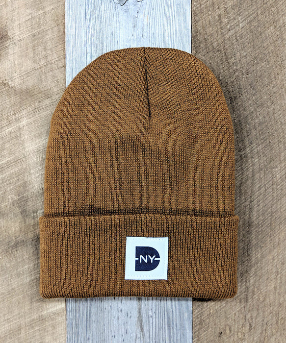 Dave's New York Iconic Logo Beanie - Brown