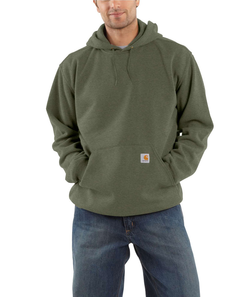 Carhartt Men's Midweight Pullover Hooded Sweatshirt - Winter Moss Snow Heather at Dave's New York
