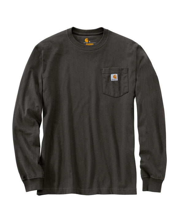 Carhartt K126 Long Sleeve Workwear T-shirt in Peat at Dave's New York