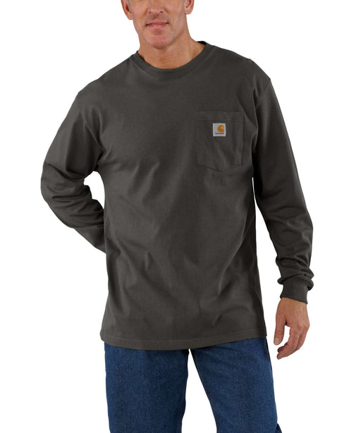 Carhartt K126 Long Sleeve Workwear T-Shirt - Peat