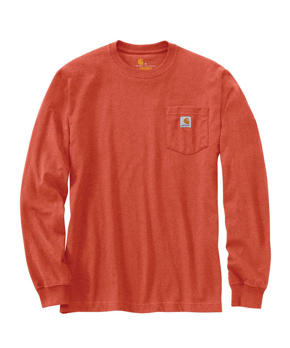 Carhartt K126 Long Sleeve Workwear T-Shirt - Cayenne Heather at Dave's New York