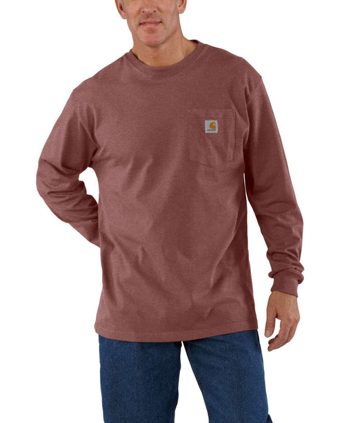 Carhartt K126 Long Sleeve Workwear T-Shirt - Iron Ore Heather
