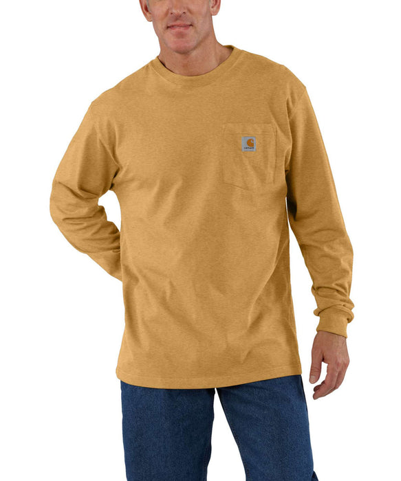 Carhartt K126 Long Sleeve Workwear T-Shirt - Yellowstone Heather at Dave's New York