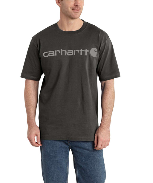 Carhartt K195 Signature Logo T-Shirt in Peat at Dave's New York