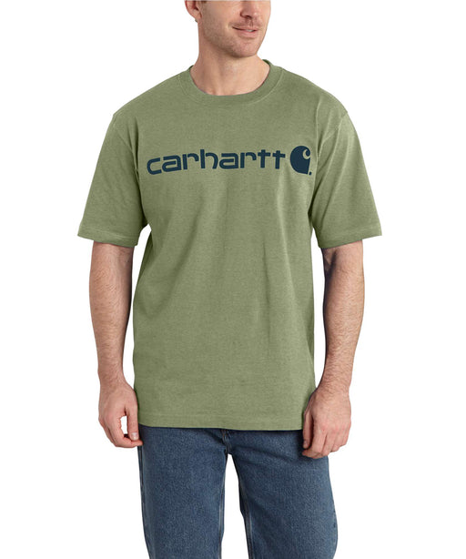 Carhartt K195 Short Sleeve Logo T-Shirt – Oil Green Heather
