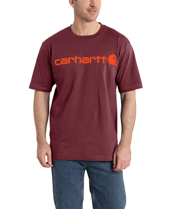 Carhartt K195 Short Sleeve Logo T-Shirt – Sun-Dried Tomato Heather
