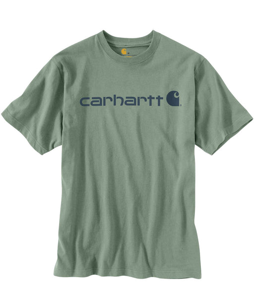 Carhartt K195 Signature Logo T-Shirt in Botanic Green at Dave's New York