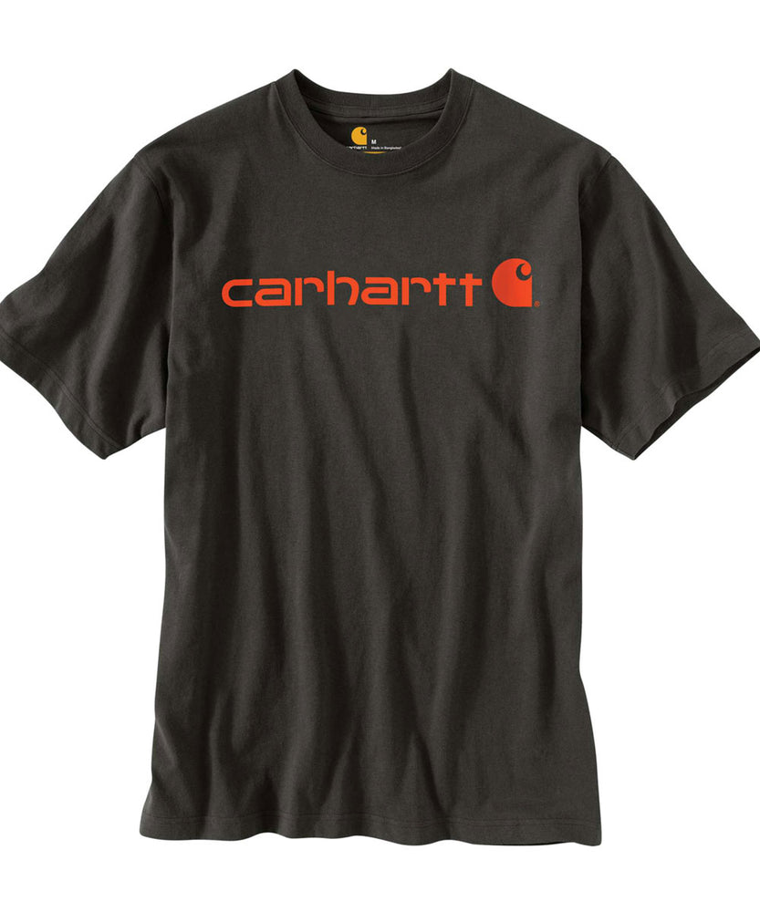Carhartt K195 Signature Logo T-Shirt in Peat/Bold Orange at Dave's New York