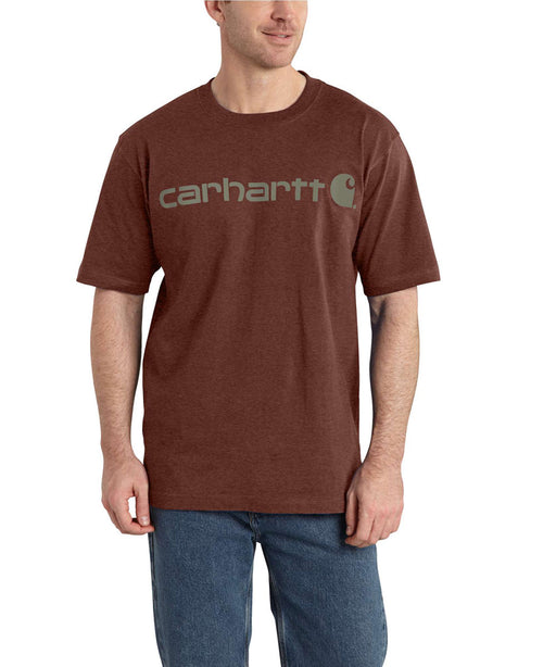 Carhartt K195 Signature Logo T-Shirt in Iron Ore Heather at Dave's New York