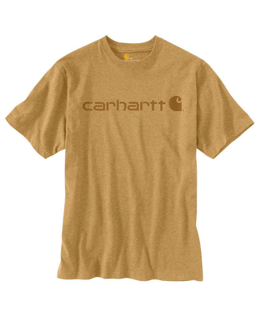 Carhartt K195 Signature Logo T-Shirt in Yellowstone Heather at Dave's New York