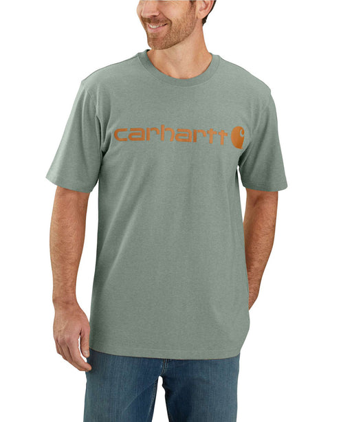 Carhartt K195 Signature Logo T-Shirt - Leaf Green Heather at Dave's New York