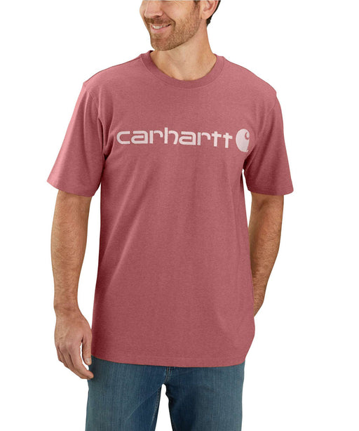 Carhartt K195 Signature Logo T-Shirt - Blush Pink Heather at Dave's New York