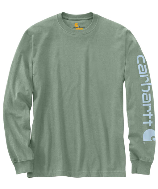 Carhartt Signature Sleeve Logo Long-Sleeve T-Shirt – K231 – Botanic Green