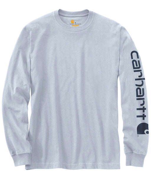 Carhartt Signature Sleeve Logo Long-Sleeve T-Shirt – K231 – Soft Blue
