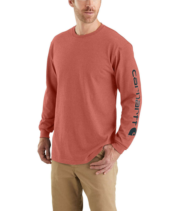 Carhartt Signature Sleeve Logo Long-Sleeve T-Shirt - Cayenne Heather at Dave's New York