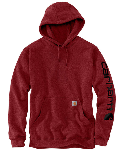 Carhartt Mid-Weight Hooded Logo Sweatshirt K288 - Dark Barn Red Heather