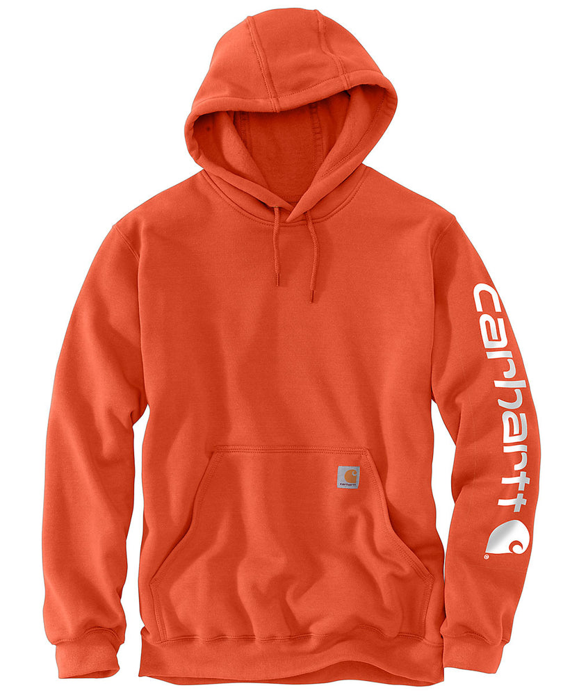 Carhartt Mid-Weight Hooded Logo Sweatshirt K288 in Harvest Orange at Dave's New York