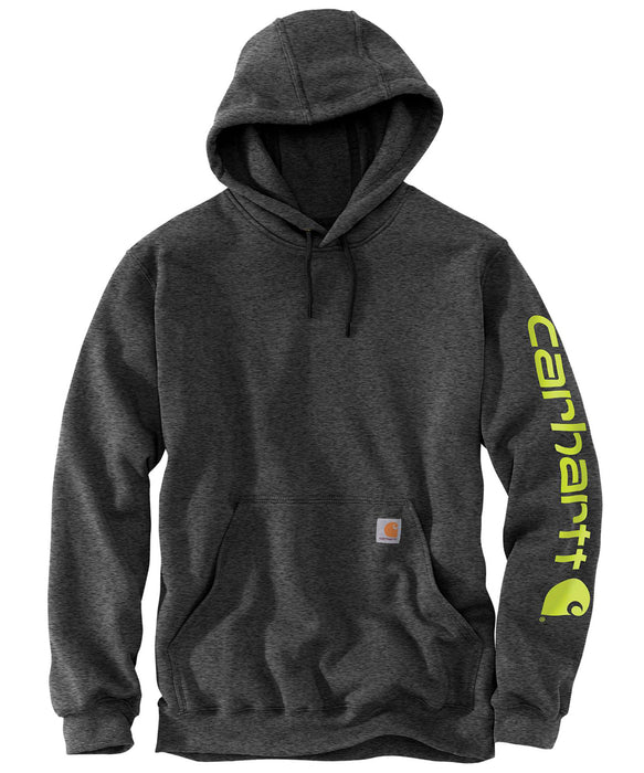 Carhartt Mid-Weight Hooded Logo Sweatshirt K288 - Carbon Heather
