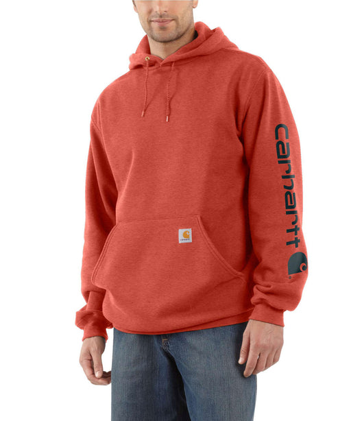 Carhartt Mid-weight Hooded Logo Sweatshirt - Cayenne Heather at Dave's New York