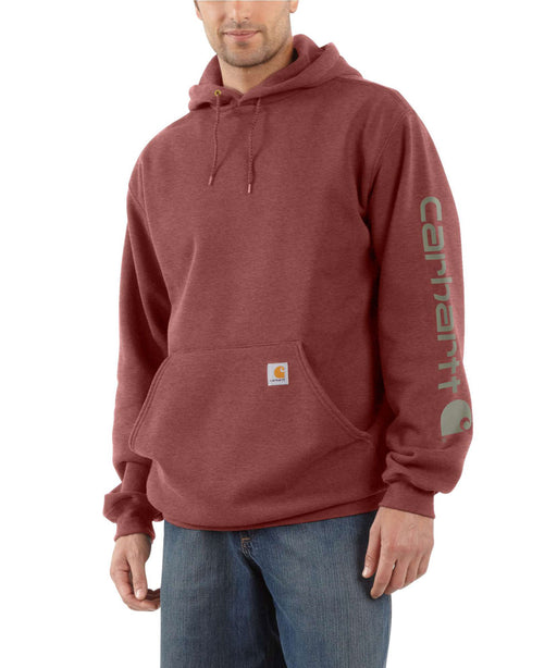 Carhartt Mid-weight Hooded Logo Sweatshirt - Iron Ore Heather at Dave's New York