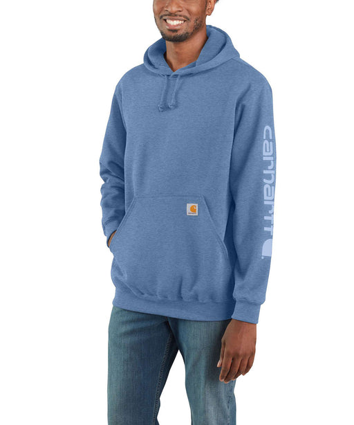 Carhartt Midweight Logo Hooded Sweatshirt - Coastal Heather at Dave's New York