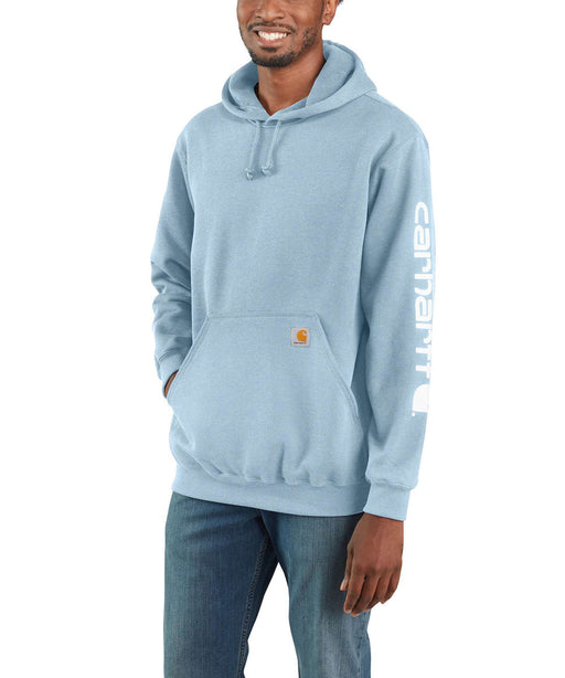 Carhartt Midweight Logo Hooded Sweatshirt - Tourmaline Heather at Dave's New York