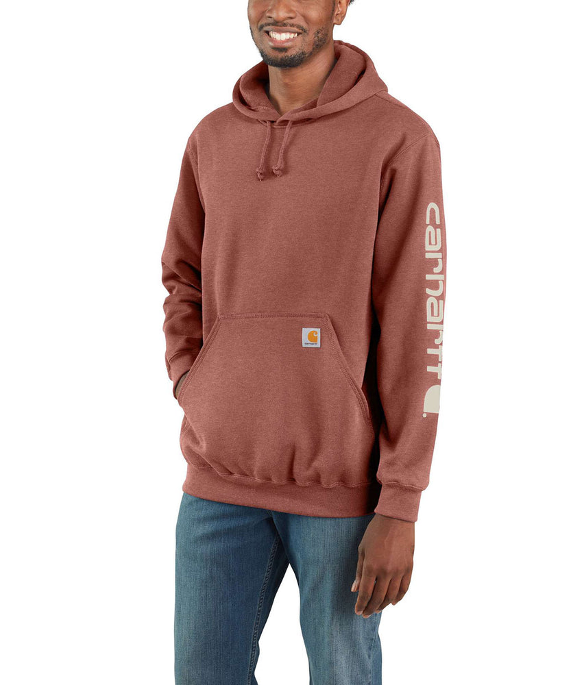 Carhartt Midweight Logo Hooded Sweatshirt - Auburn Heather at Dave's New York